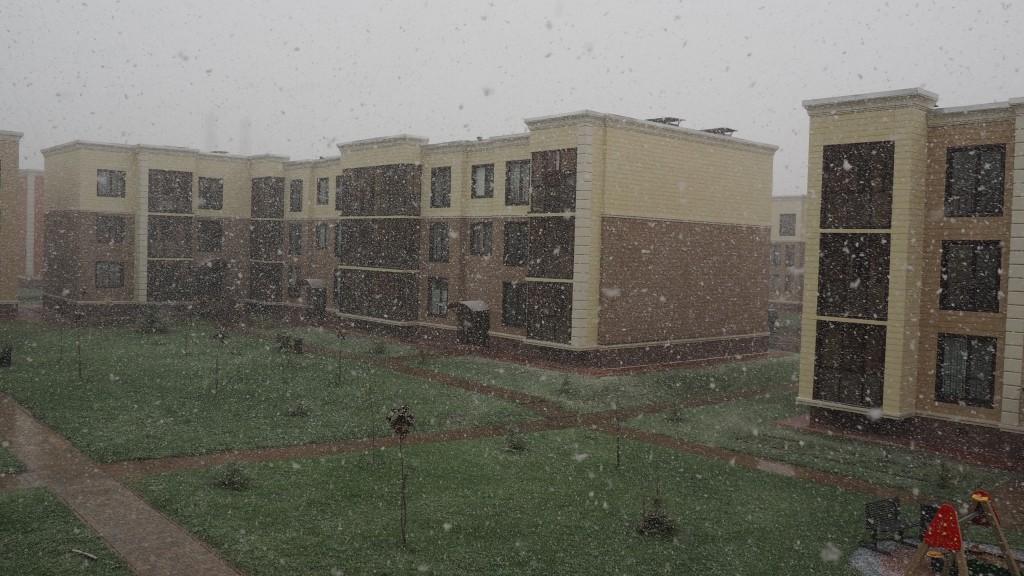 первый снег Ватутинки